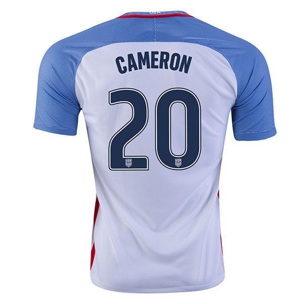 Nike USA Home Cameron Jersey 2016 (White/Blue)
