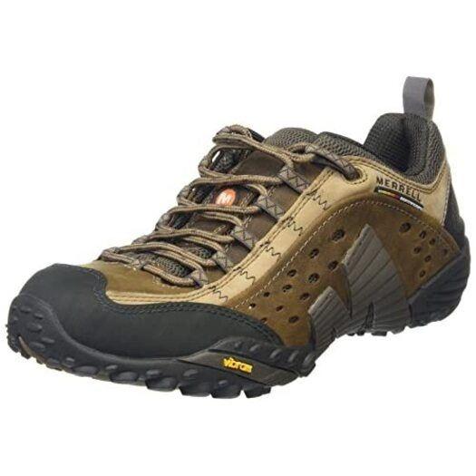Merrell Men S Intercept Trainer Moth Brown J73705 13 Uk In 2021 Merrell Shoes Mens Brown Leather Sneakers Sneakers Fashion