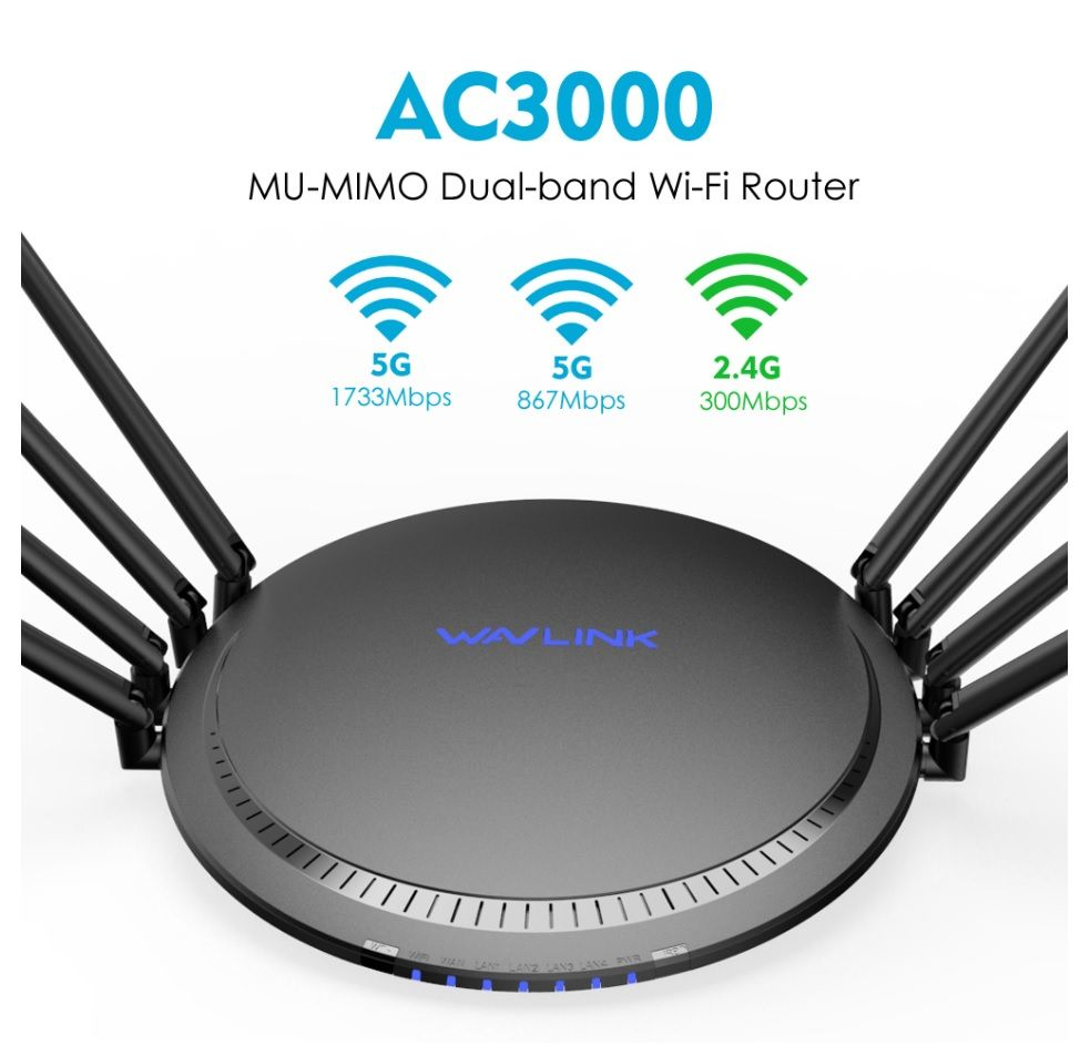 Best Wifi Router 2020.Wavlink Ac3000 Wl Wn533a8 Wireless Wifi Range Extender