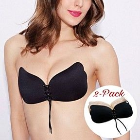aa3a84b5b6 Strapless Backless Push Up Reusable Self Adhesive Bra - 2 Pack by  MyFashionVille on Opensky