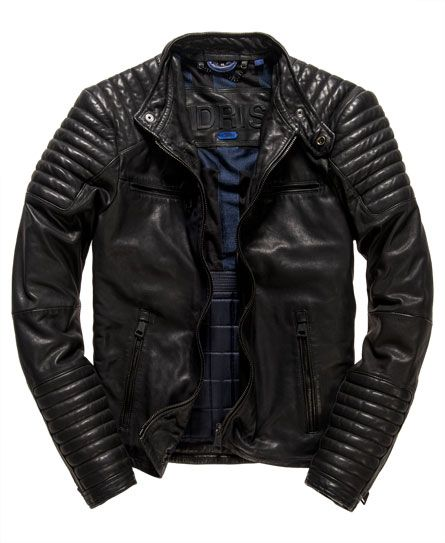 Idris Elba   Superdry Leading Leather Racer Jacket | Men's Fashion ...