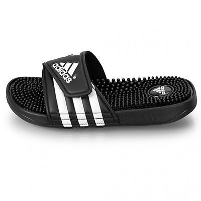 ADIDAS ADISSAGE MENS 078260 Black White Massage Sandals Slides Slippers  Size 8