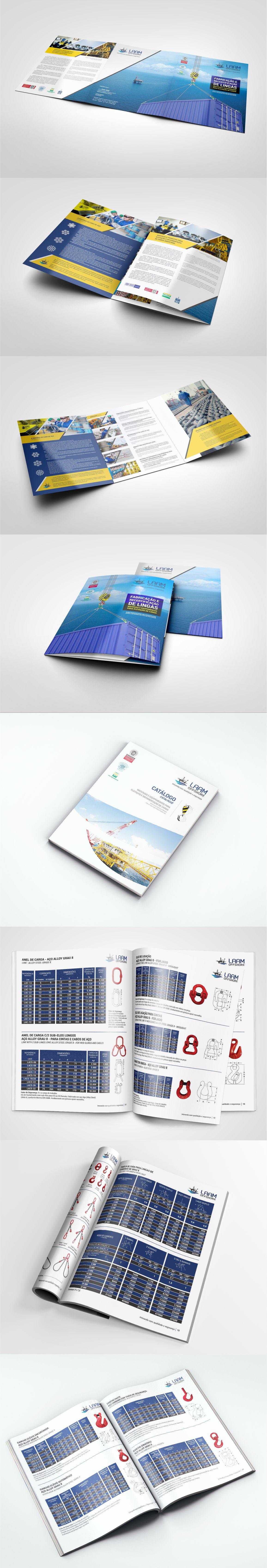 Desenvolvimento de Apresentação Comercial Impressa e Catálogo de Produtos e Serviços para a LAAM OFFSHORE, de Macaé/RJ.