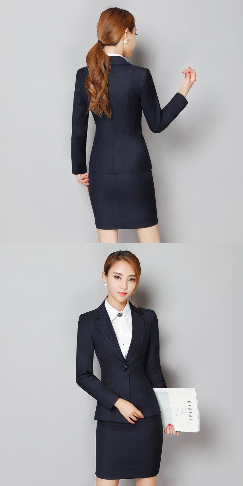 Aidenroy New Style 2018 Formal Blazer Women Skirt Suits Work Wear