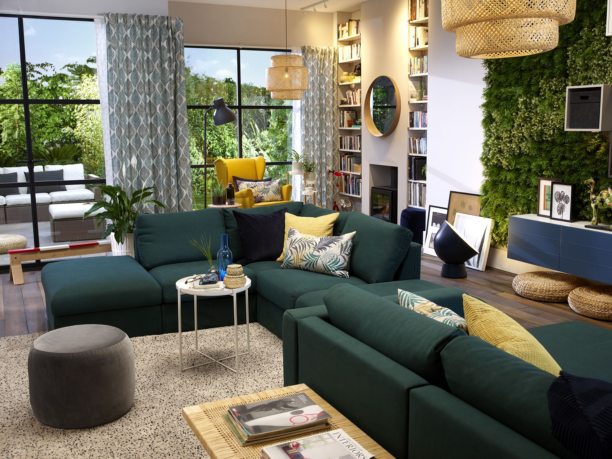 Image Result For Ikea Vimle Sofa Green Living Room