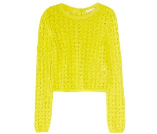 Rebecca Taylor Pointelle-knit Sweater