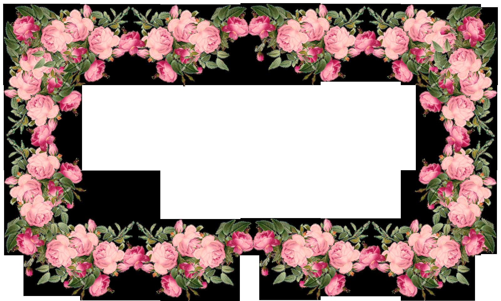 Free Faux Vintage Roses Frame And Borders Png Rosenrahmen Png Freebie Meinlilapark Diy Printables A Rose Frame Boarders And Frames Floral Border Design