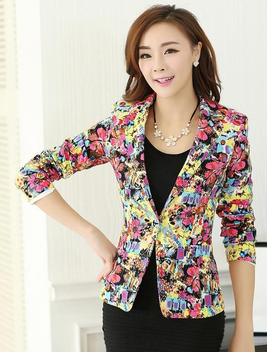 Pas cher new women's 2015 manteau/costume veste/blousons décontractés et de travail costume porter un blazer bouton costume tunique pour les femmes 601, Acheter  Vestes Classiques de qualité directement des fournisseurs de Chine:
