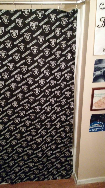 HandmadeRaidersShower CurtainSportsRaiders BathroomRaiders GiftCustomRaiders Shower CurtainOaklandLas VegasFootball CurtainCloth By