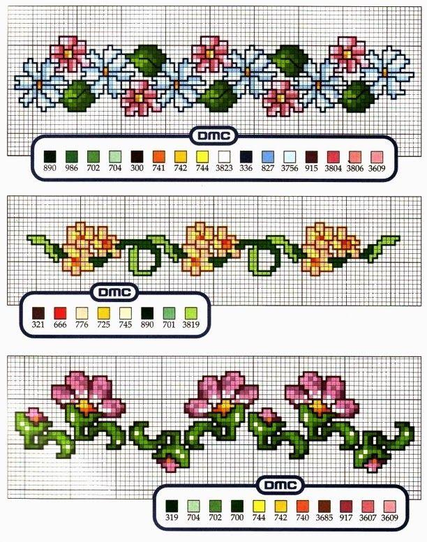 Schemi a punto croce gratuiti per tutti schemi bordi con for Schemi punto croce fiori e farfalle