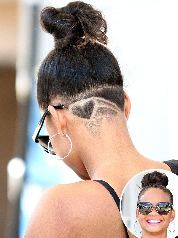 Christina Milian Shaves a Heart on Her Head (PHOTO). Undercut Hair TattooShaved