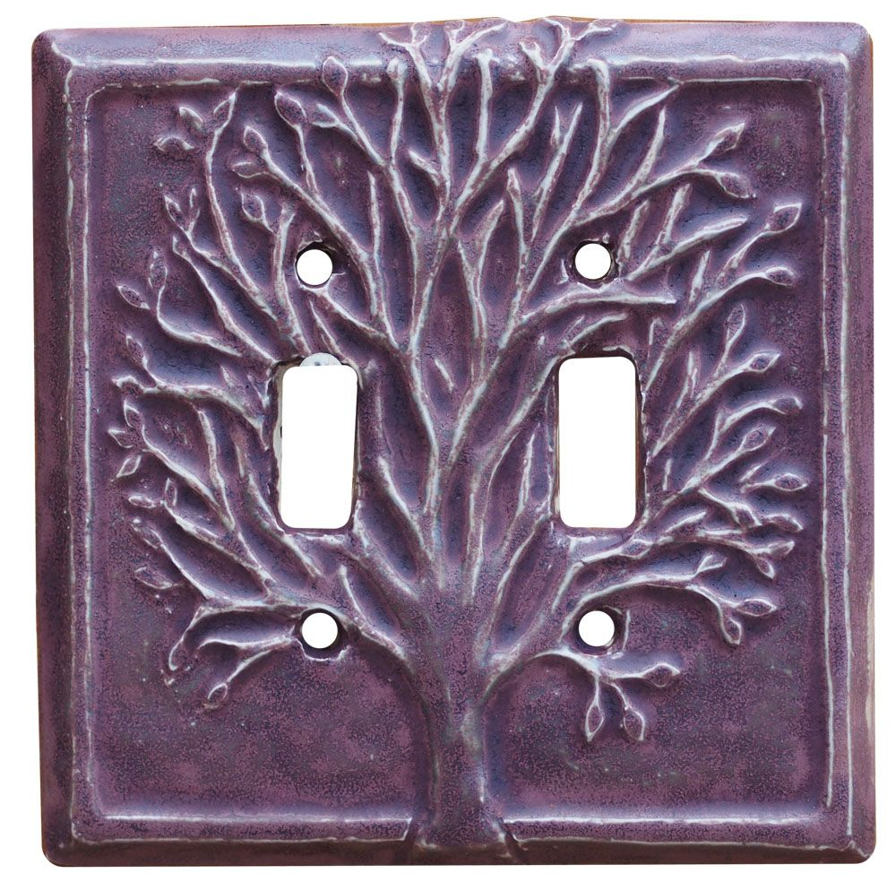 Ceramic Light Switch Covers Tree Design Double Toggle Ceramic Light Switch Cover Is An
