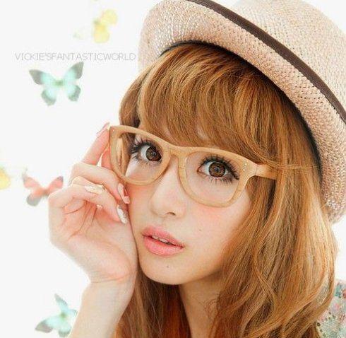cute japanese makeup look perfect for glasses  gyaru