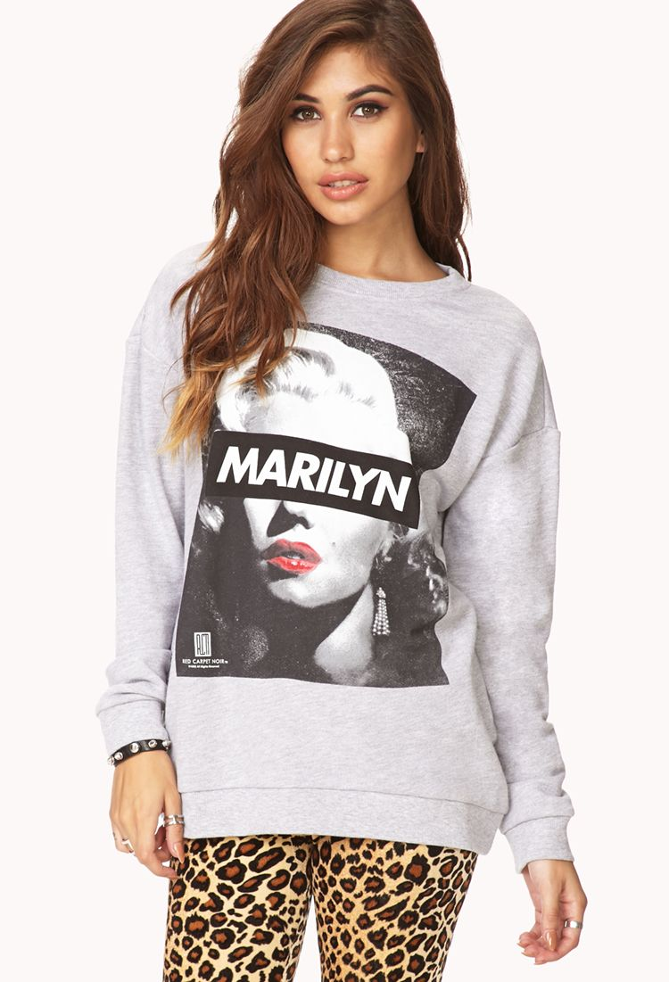 Productname Forever 21 Marilyn Monroe Sweatshirt Sweatshirts Clothes [ 1101 x 750 Pixel ]