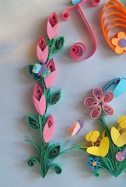 Paper Quilling - In the 5th grade I won an art contest with the rabbit picture I quilled. Fun memory. Neat gift to make for Mother's Day.