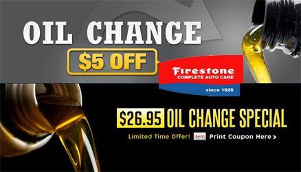 Firestone Oil Change Price Oil Change Firestone Print Coupons