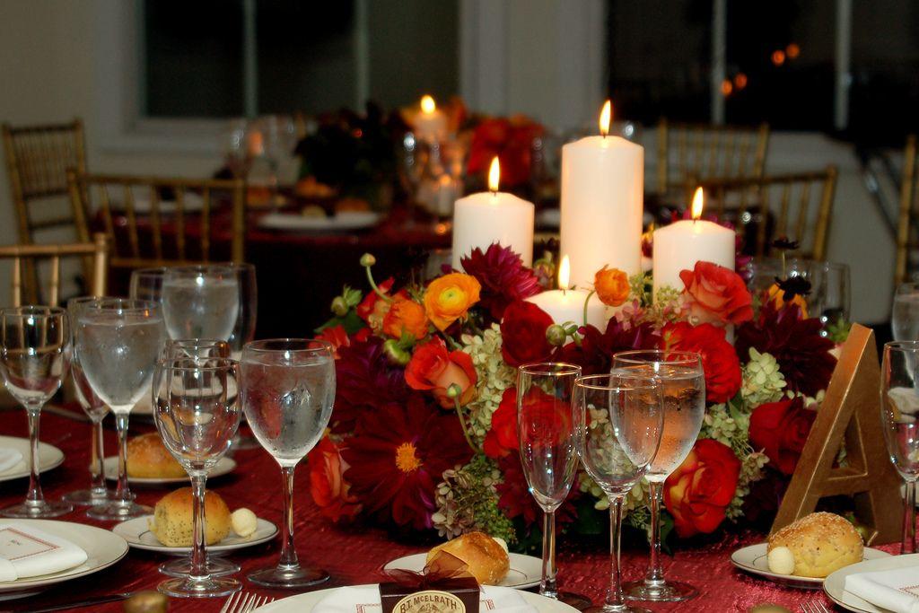 Fall Table Centerpiece Wedding Ideas: Colorful Centerpieces