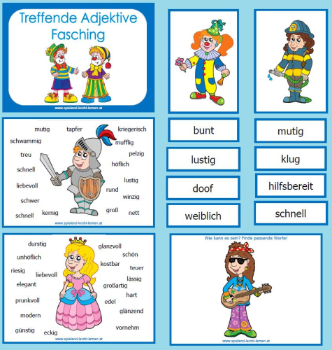 treffende adjektive  adjektive grundschule märchen