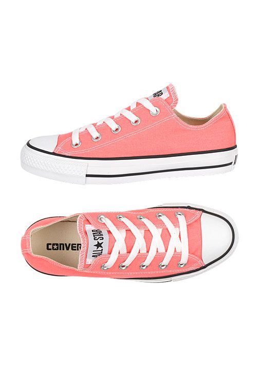 0c63e0b39e5 ... coral Converse tennies...I just have to say I am loving that my  favorite color seems to be the color of the season this summer! Chuck  Taylor All Star ...