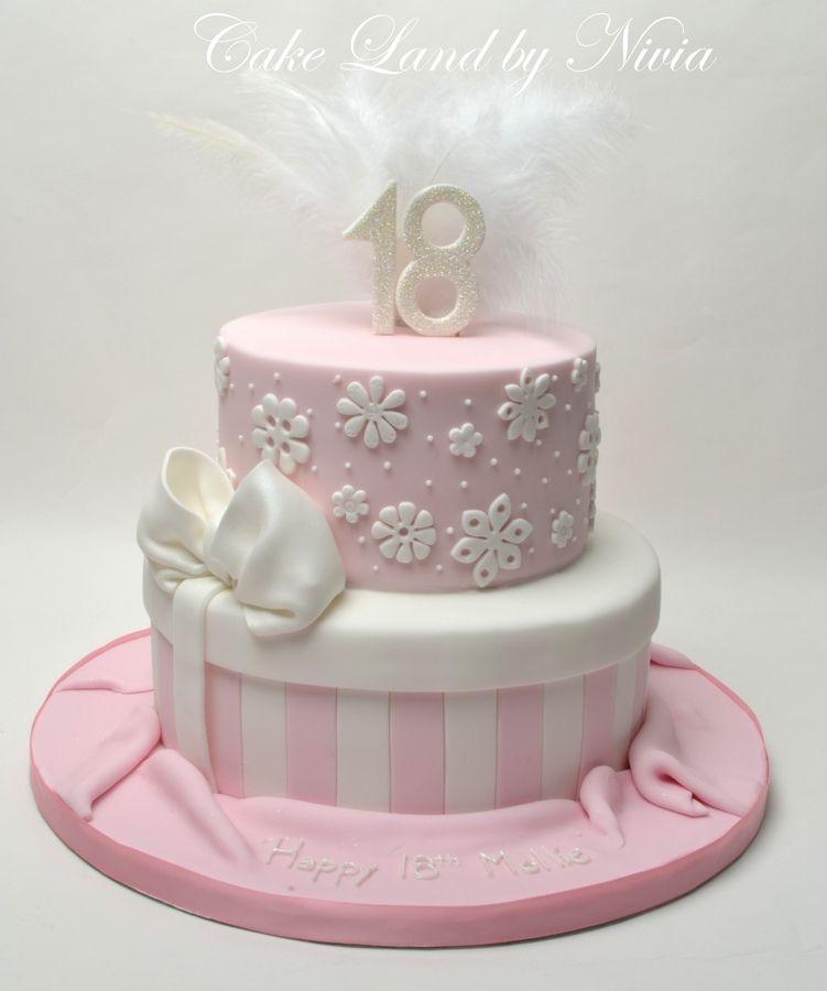18th Birthday cake RedPink CAKE Pinterest 18th birthday