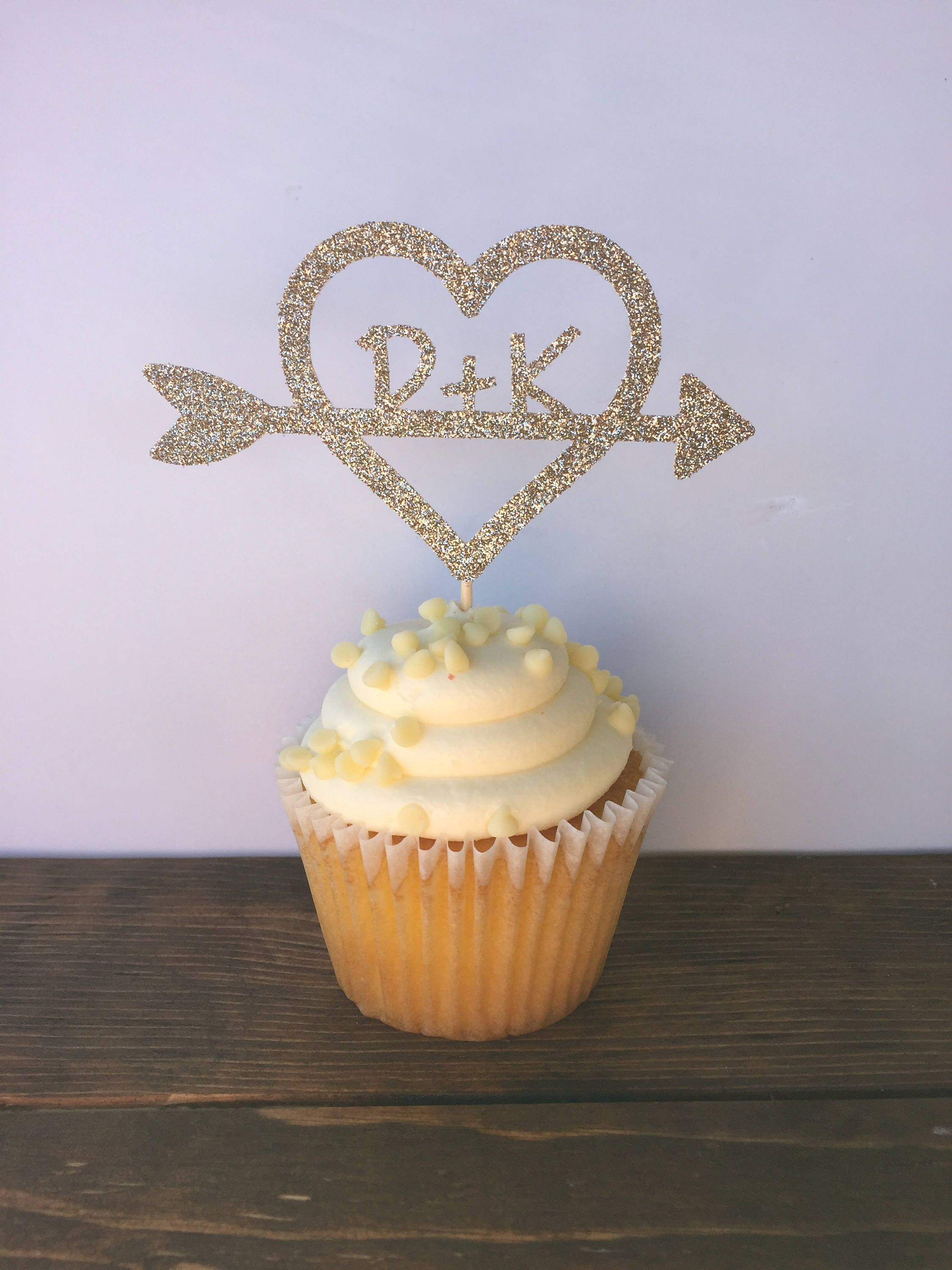Wedding Cupcake Toppers Bridal Shower Cupcake Toppers Bridal