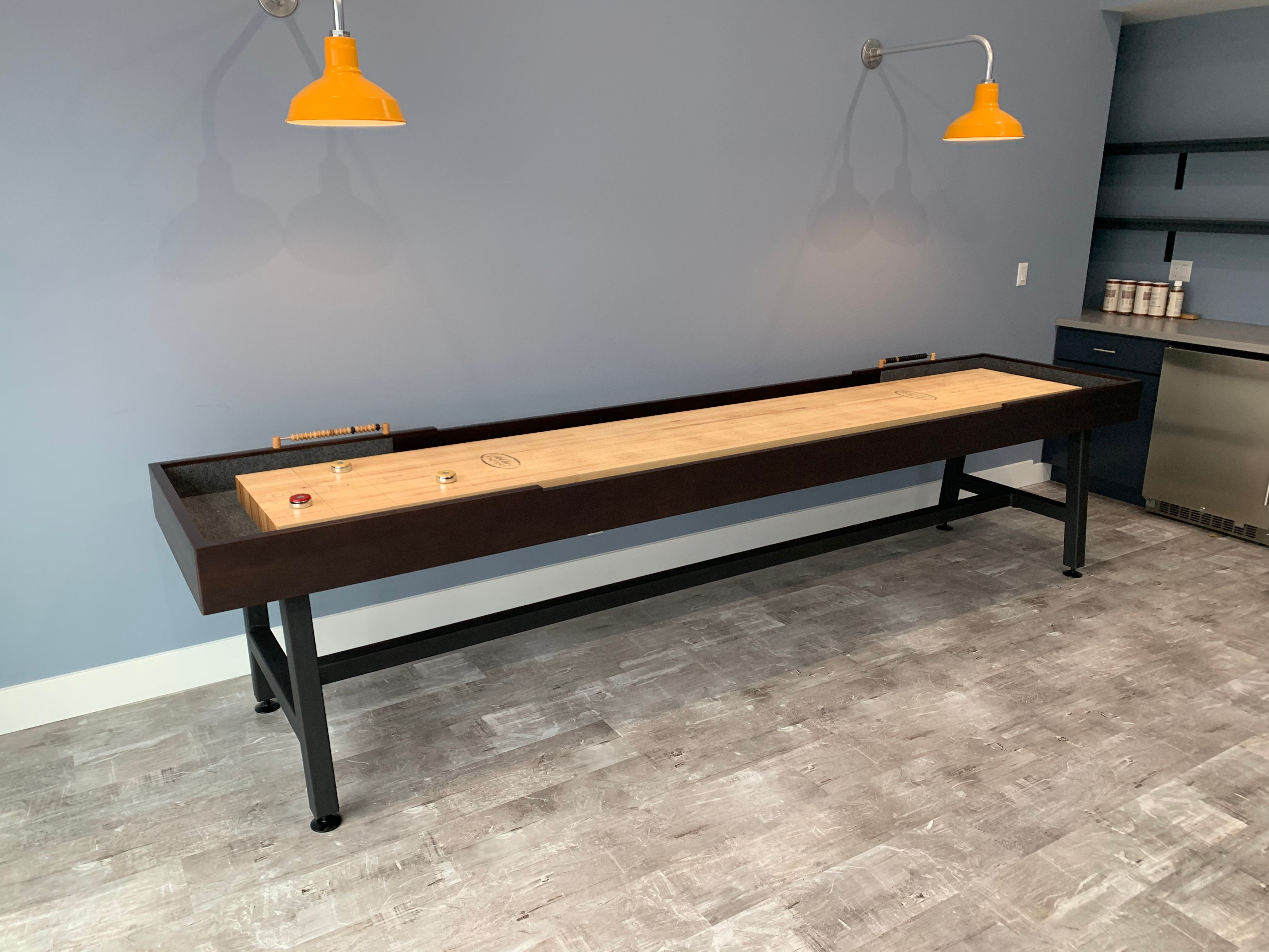 This 12' Contempo handcrafted Shuffleboard Table is a