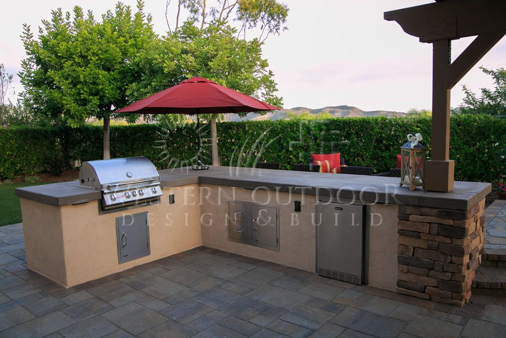Stucco Finish Bbq Islands Outdoor Kitchens Gallery Western Outdoor Design And Build Serving San Diego Orange Riverside Counties Bbq Island Outdoor Concrete Countertops Backyard Bbq