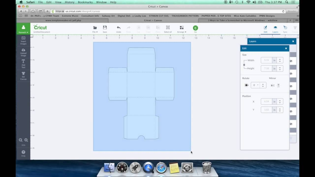 In This video I show you how you can design you own custom gift boxes/envelopes or pouches for design space using your cricut explore. Template Site http://w...