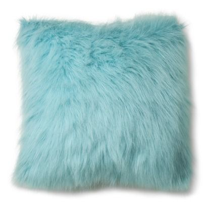 Xhilaration 174 Faux Fur Decorative Pillow Turquoise