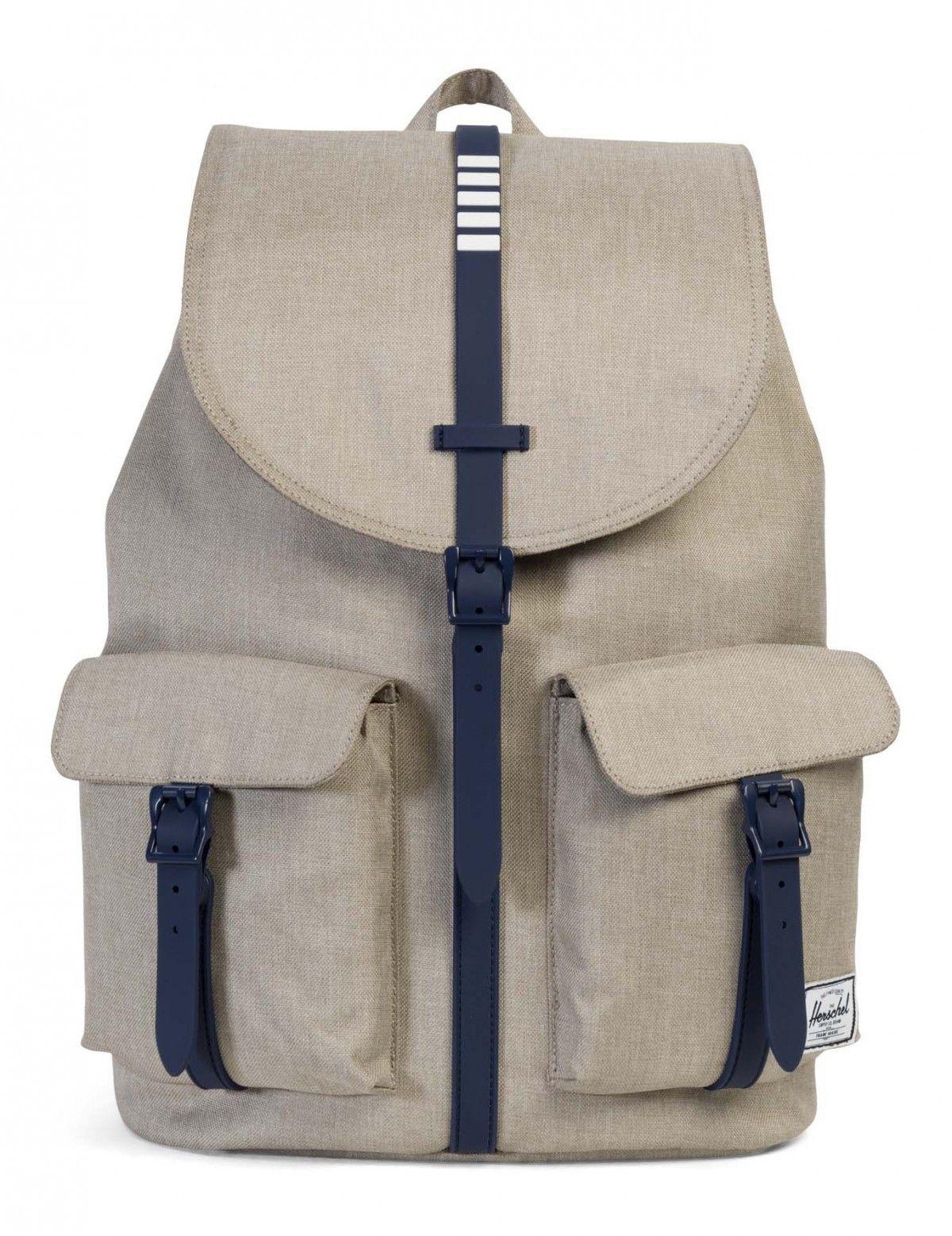 fc646183ba9 Herschel Dawson Backpack Poly Rubber Light Khaki Crosshatch ...