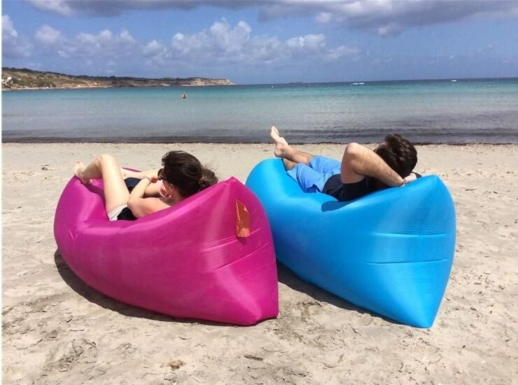 Air Lounger Fast Inflatable Bag Bed Sofa Couch Outdoor Beach Camping Hammock Lazy Chair Portable Waterproof Balloon Furniture Carry Floati