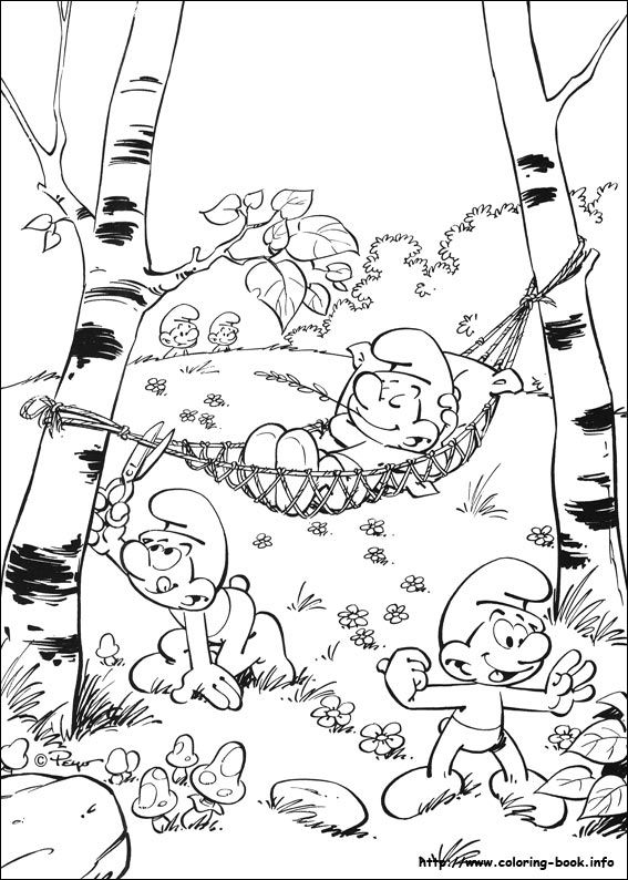 The Smurfs Coloring Picture Inkleur Cool Coloring Pages