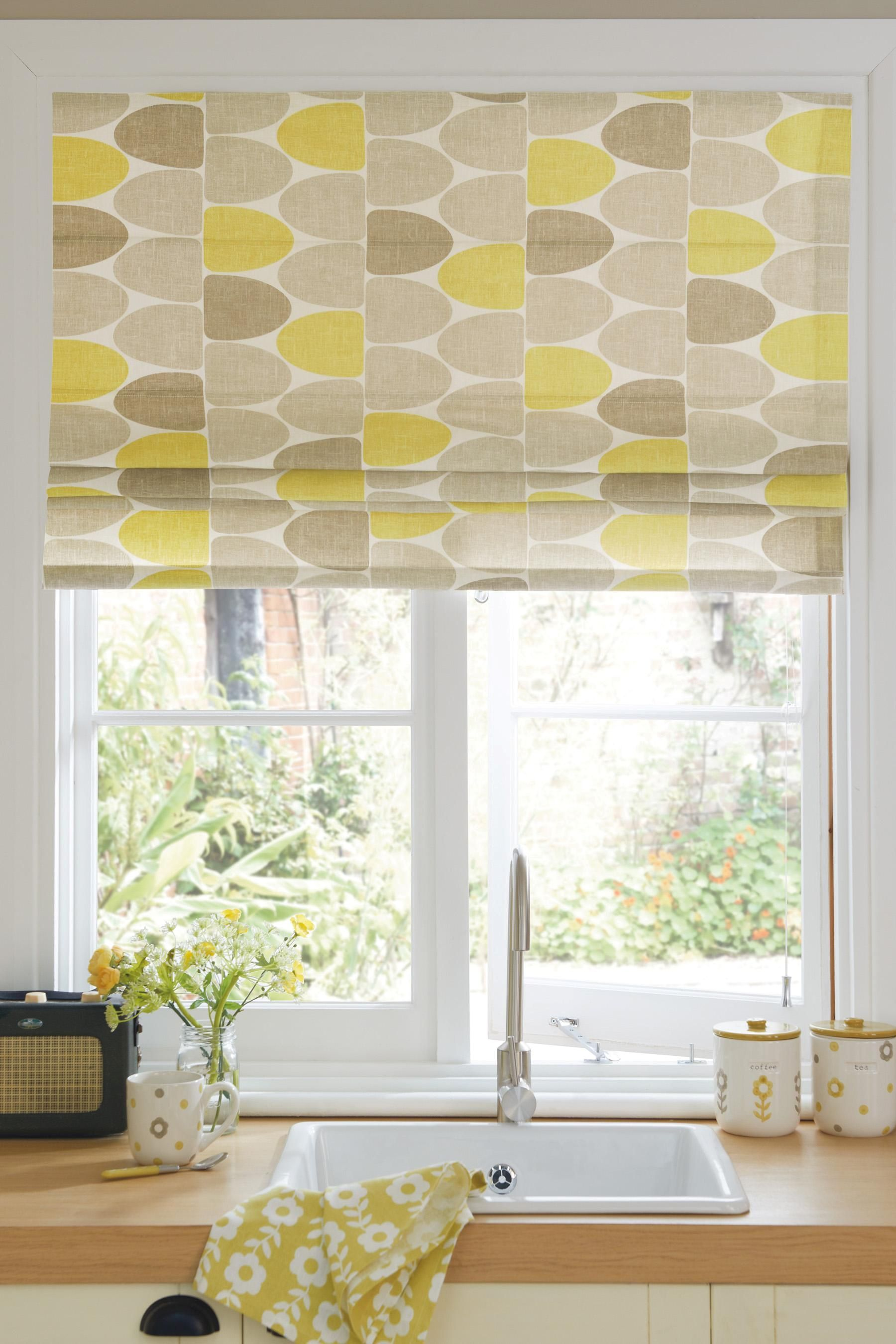 Buy Ochre Finlay Printed Roman Blind From The Next Uk