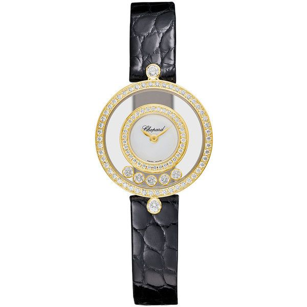Chopard Happy Diamonds 203957-0201 Watch ($10,970) ❤ liked on Polyvore featuring jewelry, watches, chopard watch, chopard watches, chopard, diamond watches, diamond jewellery and chopard jewelry