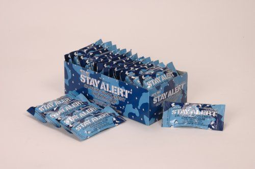 STAY ALERT Military Caffeine Energy Gum - ARCTIC MINT - TRAY