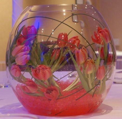 Globe Vase Wedding Flowers Pinterest Flower Arrangements
