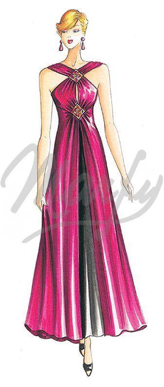 Sewing pattern Evening Gowns 2323 | Marfy dress | Pinterest | Mode ...