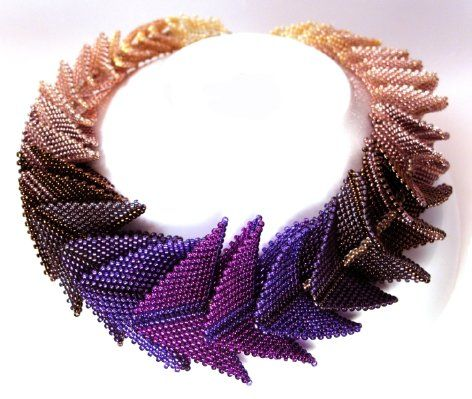 """""""Thousand Hills"""" necklace in color scheme """"Pride"""" by"""