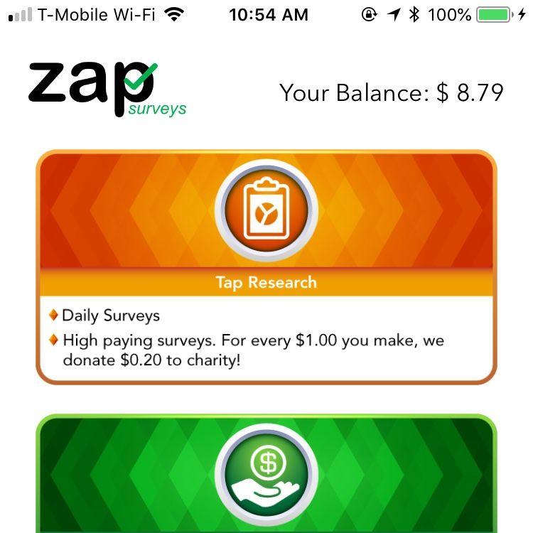 Download Zap Surveys Make money now, Survey apps that