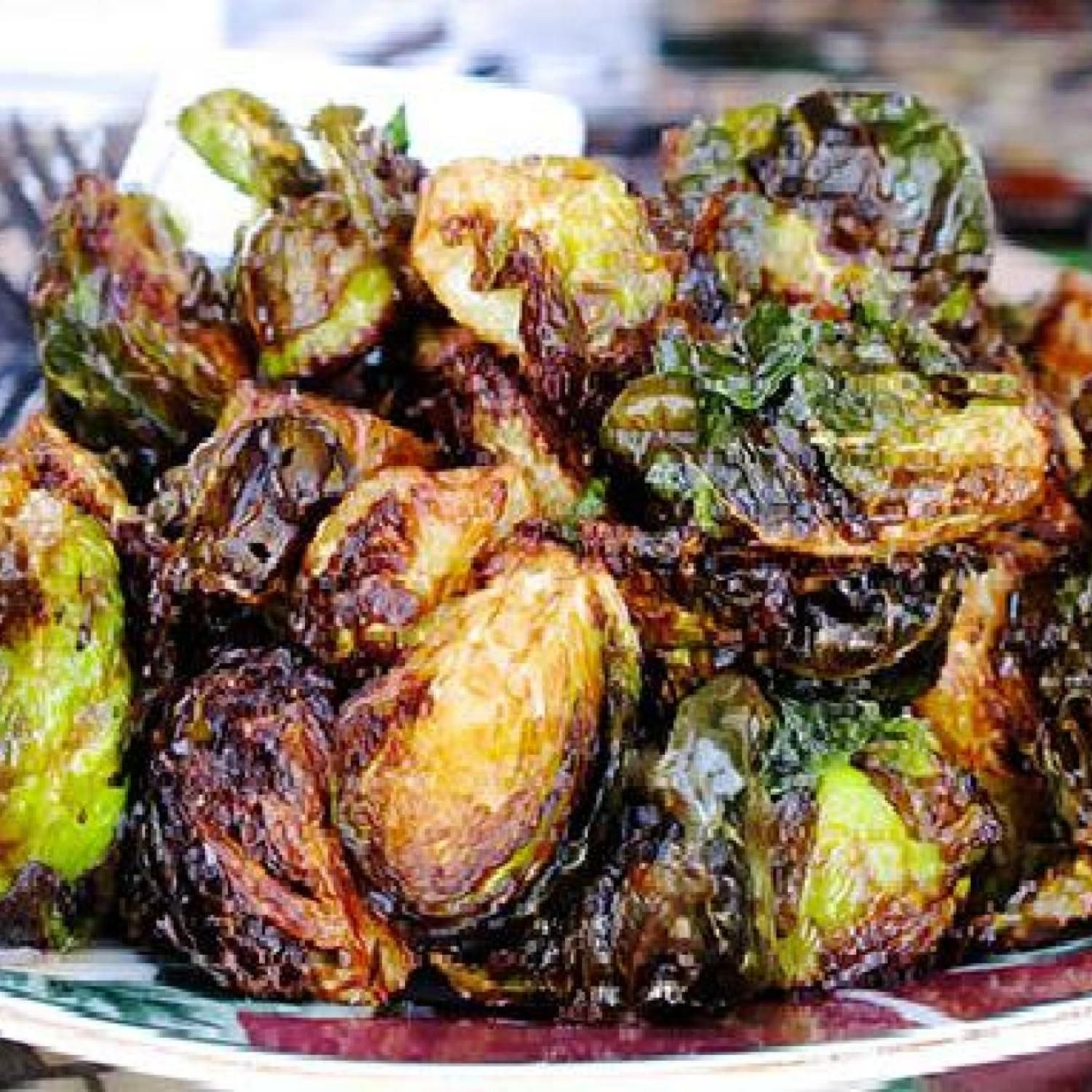 Crispy Brussels Sprouts #brusselsproutrecipes