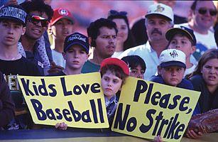 when was the baseball strike