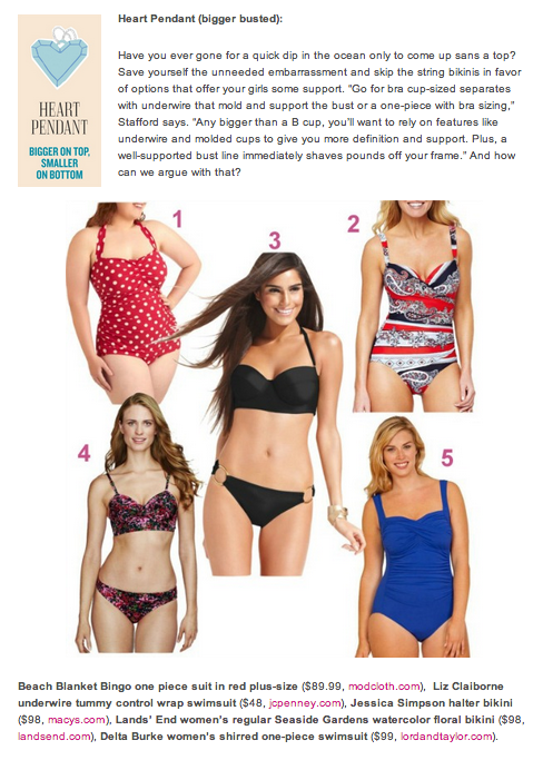 Busty The Best Swimsuits For Your Shape Big Boobs Wear This