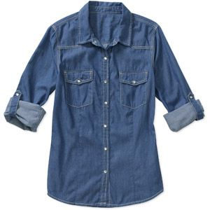2a17cbf8093 Denim Shirt | Signature by Levi Strauss & Co Women's Levi Strauss & Co,