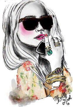 Pin De Ana Pamanes T En Illustrations Ilustraciones De Moda