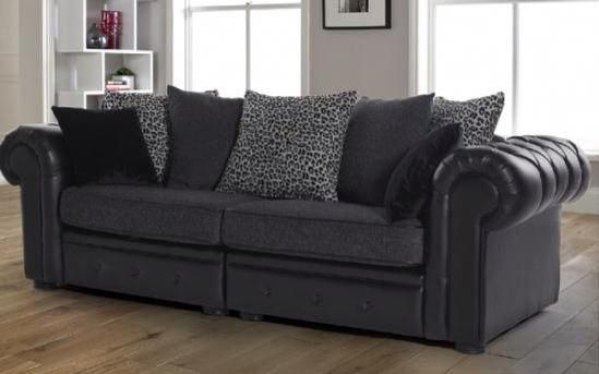 Fabulous Love This Black Leather Couch With Grey Fabric Cushions Ocoug Best Dining Table And Chair Ideas Images Ocougorg