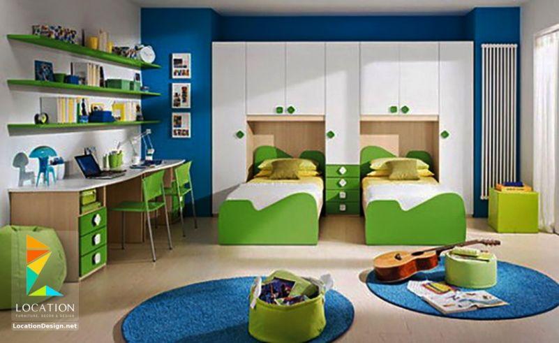 أحدث ديكورات غرف نوم اطفال بسريرين 2019 2020 Kids Bedroom Furniture Design Kids Room Furniture Kids Room Interior Design