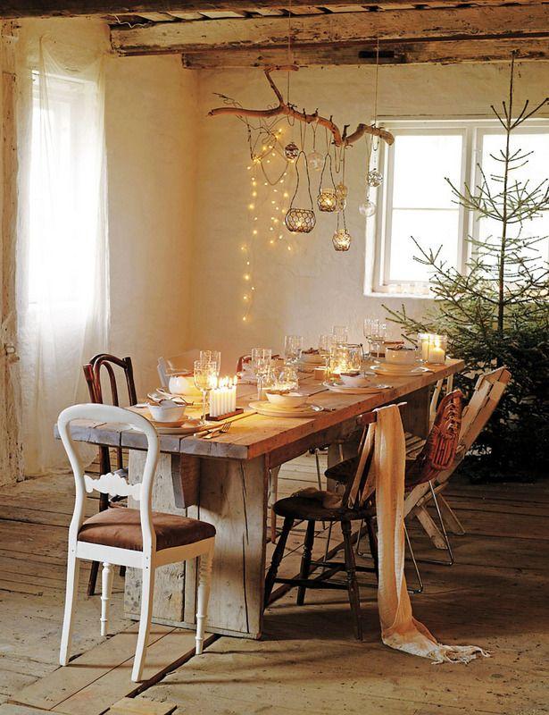 Crafty christmas navidad r stica rama de arbol y ramas for Decoracion navidena rustica