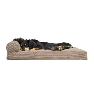 FurHaven Pet Bed   Faux Fleece & Corduroy Chaise Lounge Pillow Dog Bed (