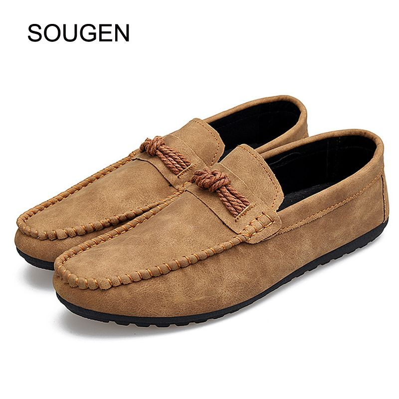 SOUGEN Men Loafers Slip On Male Shoes Mocassin Homme New 2017 Casual Shoes  Men Luxury Brand