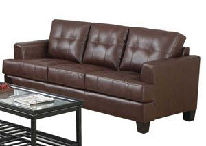 samuel dark brown bonded leather sofa coaster furniture rh pinterest com